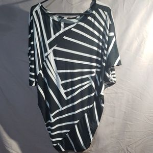 Forever Tops - Forever black and white printed loose blouse